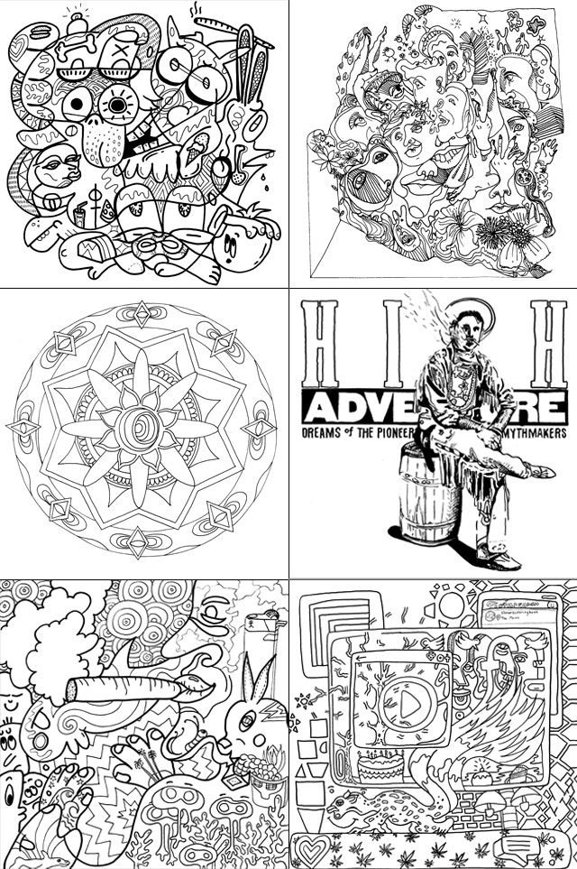 A Variety Of Styles Featured In The Coloring Book