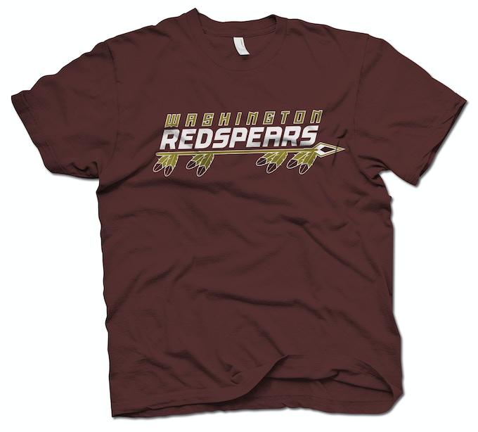 Limited Edition custom-printed Washington Redspears Traditional Wordmark T-Shirt