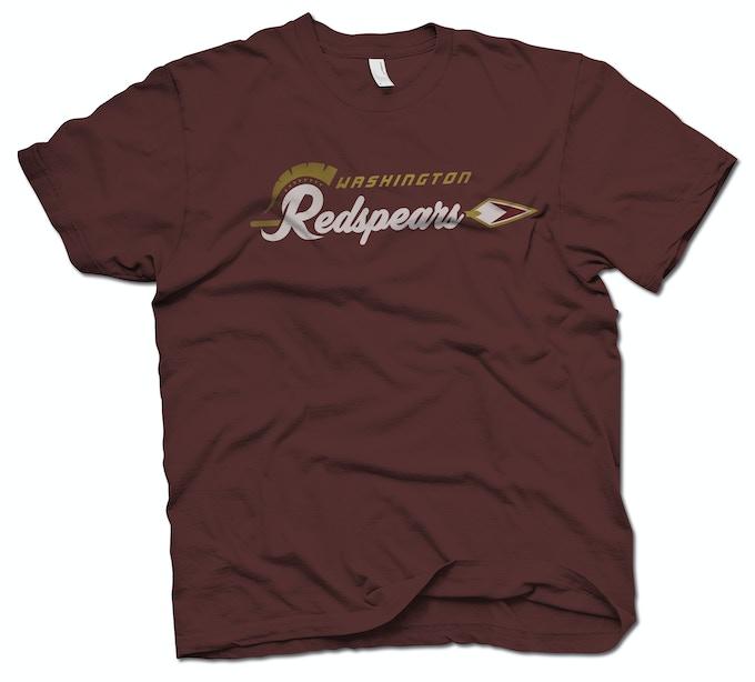 Limited Edition custom-printed Washington Redspears Roman Wordmark T-Shirt