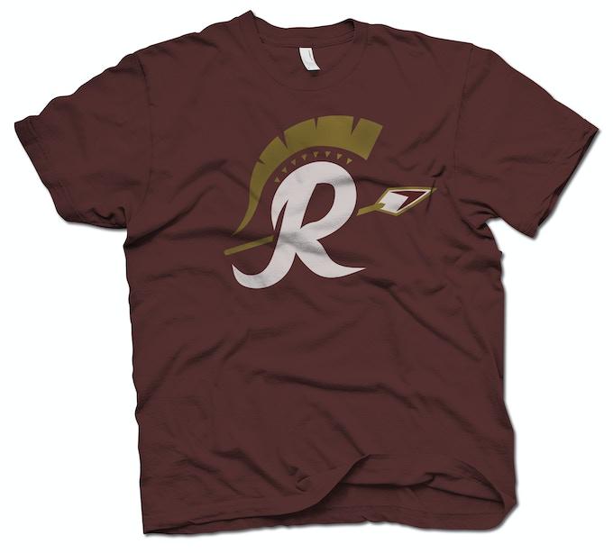 Limited Edition custom-printed Washington Redspears Roman Logo T-Shirt