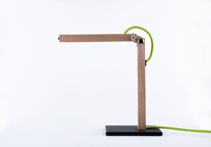 T2 is a handmade lamp that connects natural materials with modern aesthetics and technology