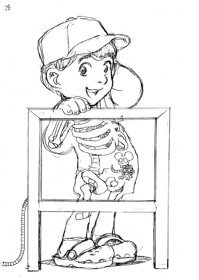 Takeshi Miyazawa pencils for ABC DISGUSTING