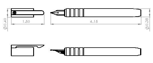 Fountain Pen Dimensions