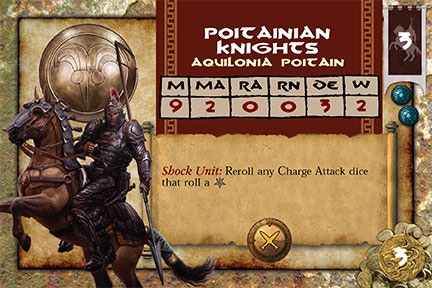 Hard-charging Poitainian Knights are best used on the attack.