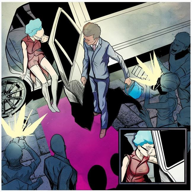 Mira Mortal and JAR Rodriguez (color panel from Angel Rock)