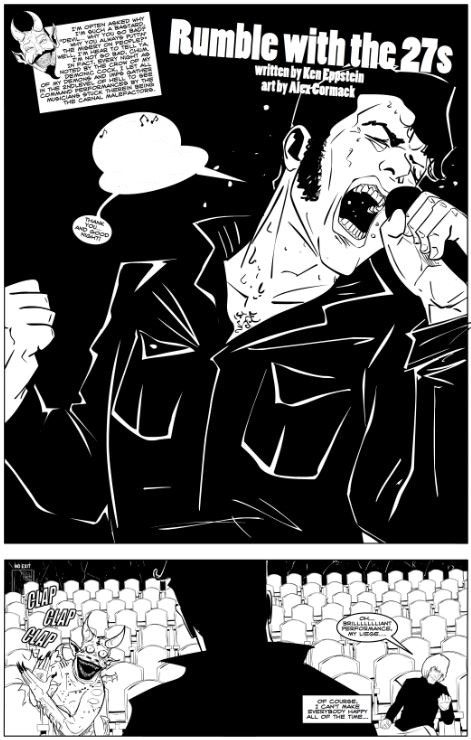 "Ken Eppstein and Alex Cormack (inked page from ""Rumble With the 27s"")"