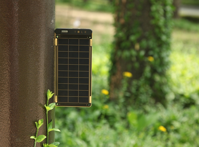 Use Solar Paper's embedded magnets to attach it to metal surfaces.