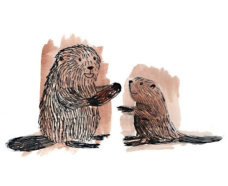 Little Beaver learns valuable lessons in hard work and making things with his hands from his Dad.