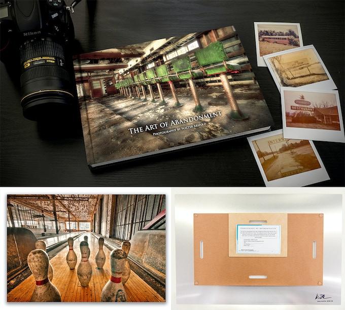 "24""36"" Metal Print + Art of Abandonment Photobook"