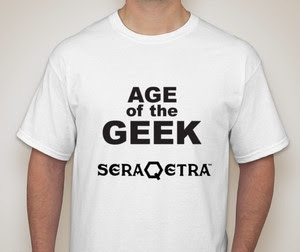 """AGE OF THE GEEK""/SERAQETRA T-Shirt"