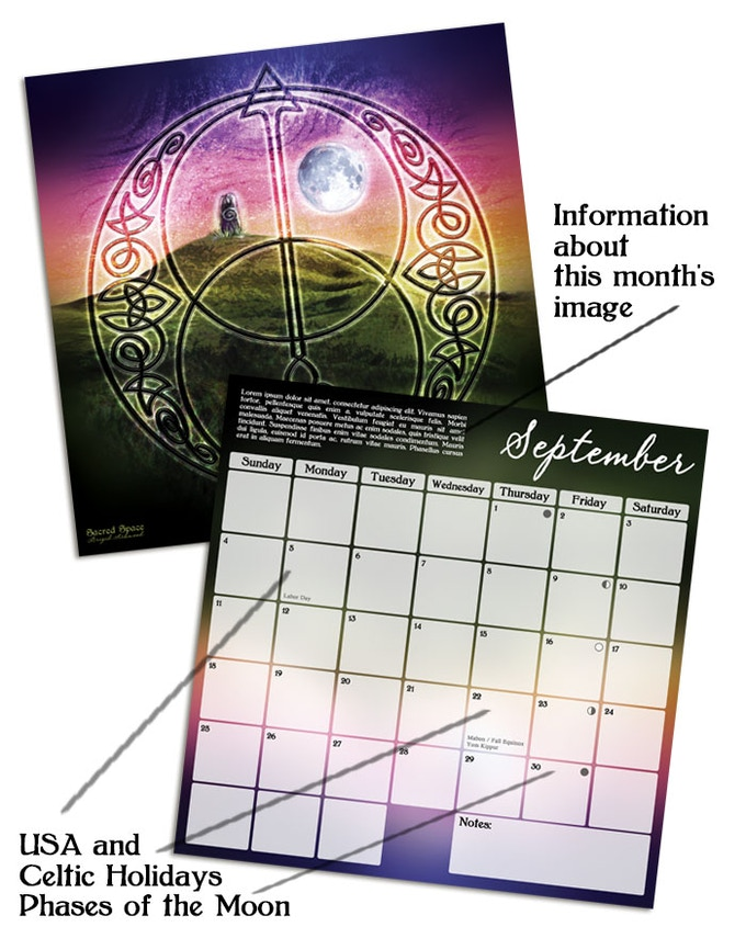 Calendar Art Questions : Celtic art calendar by brigid ashwood —kickstarter
