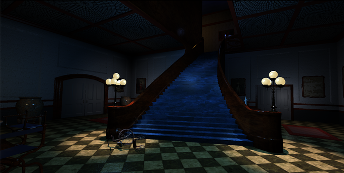 The Stauf Mansion Foyer - in game render