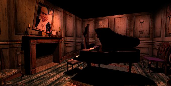 Henry Stauf's portrait hangs in the Music Room.