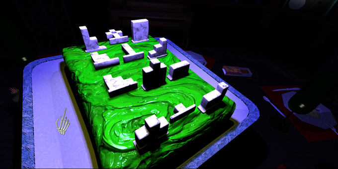 The cake puzzle in the Dining Room, one of 26 puzzles in the game.