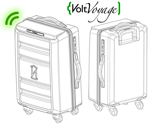 VoltVoyage - World's First Wireless Charging Suitcase