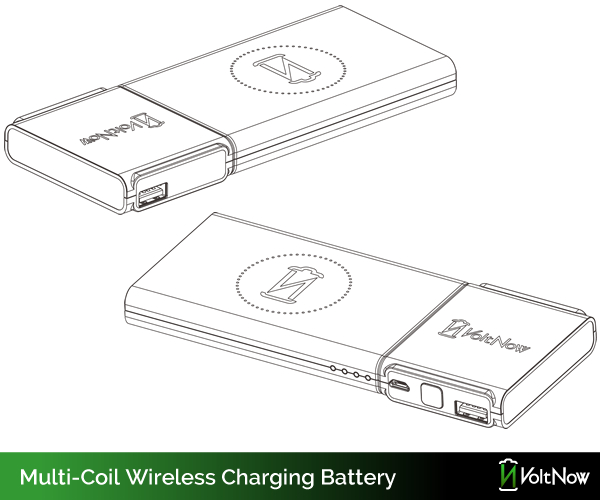 Multi-Coil Wireless Charger + Large Capacity Battery Bank