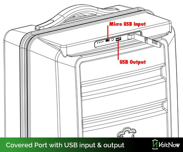 Can also charge with traditional USB cable