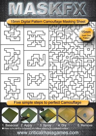 15mm Digital MaskFX Sheet