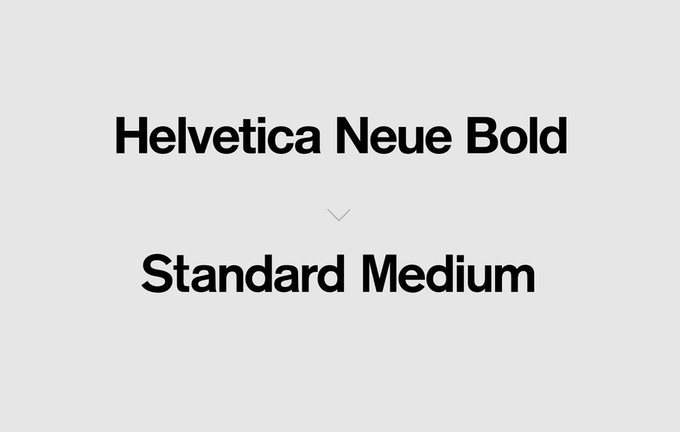 The Screenprint poster uses Standard Medium rather than Helvetica Neue Bold