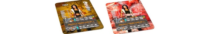 Survivor Card: Healthy Side and Infected Side