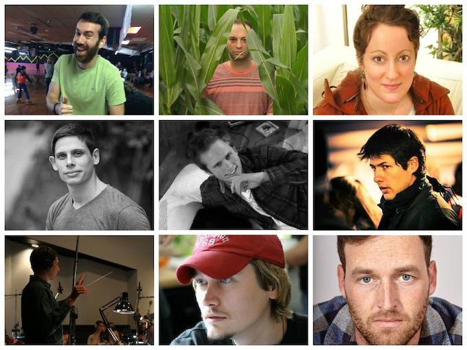 Top left to bottom right: Sean Kenealy, Eric Silvera, Lori Balaban, Eli Samuel, Alex Nordenson, Daniel Herrera, Kevin Prockup, Jared Balog, Miles Soboleski