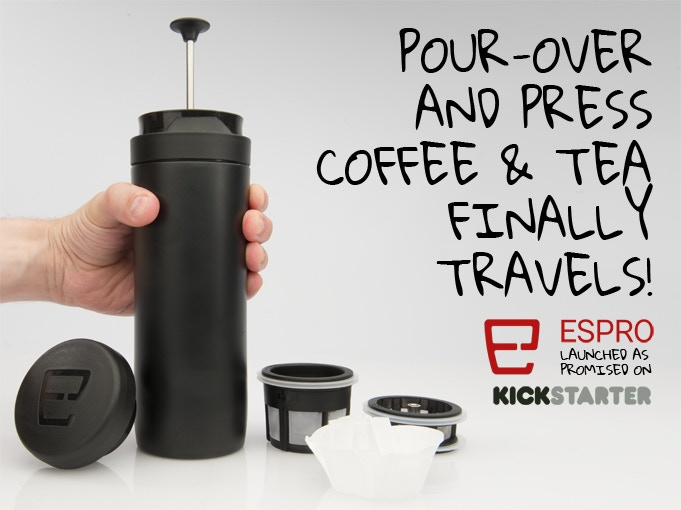 Busy, active coffee and tea lovers: make and take the best tasting french press and pour-over style drink you love, anywhere.