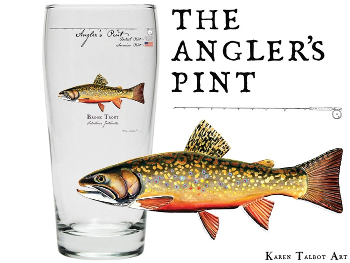 Bigger than an American & British pint, the Angler's Pint is functional art for tall tales after a long day of trout fishing