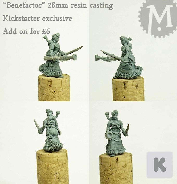 Steampunk aristocrat miniature