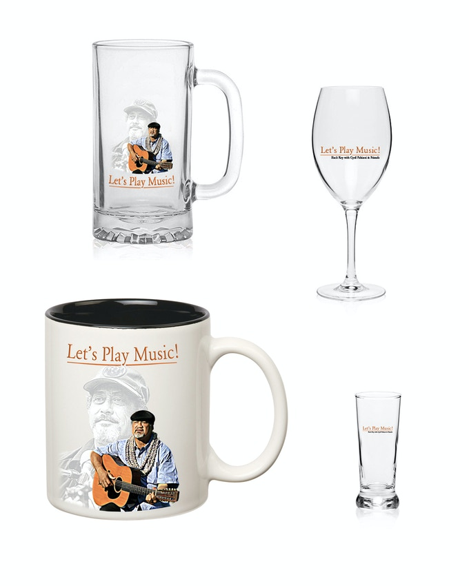 Let's Play Music Logo Glasses and Cups