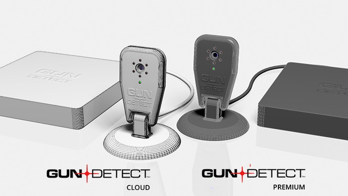 computer-rendered concepts of GunDetect systems