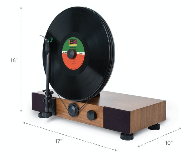 Floating Record MDF w/ Walnut Veneer (Production Version)