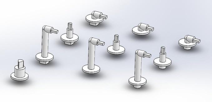 3-D holders designed by Georg Dönges