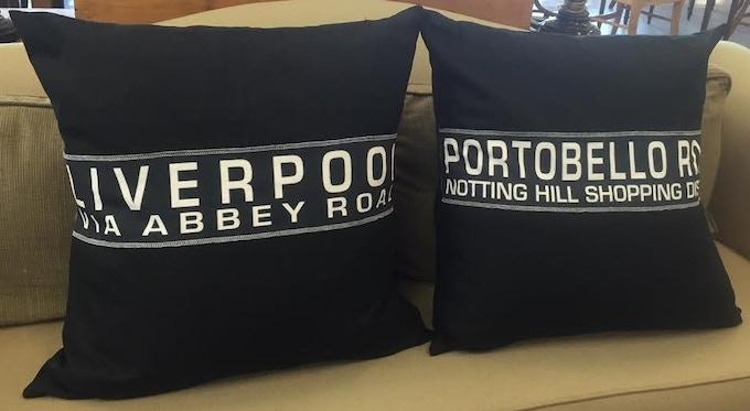 """$79 Pledge Award - 24"""" Euro Square Pillow Cover - Choose One: Liverpool OR Portobello Road - Single Destination"""