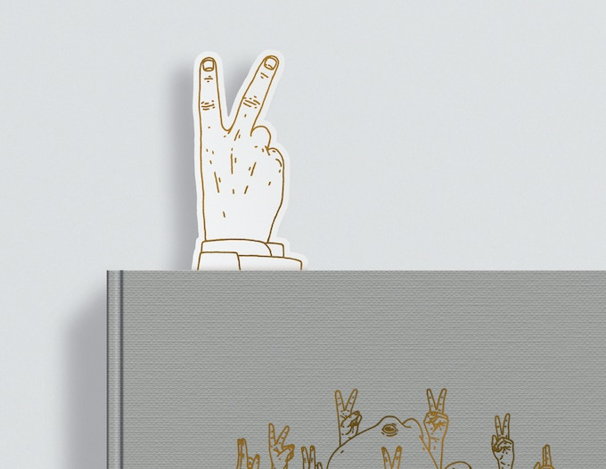 The 'UP YOURS' bookmark in the fucking book