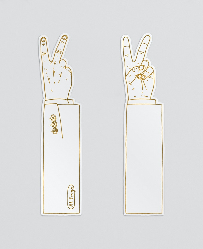 The 'UP YOURS' bookmark (front and back)