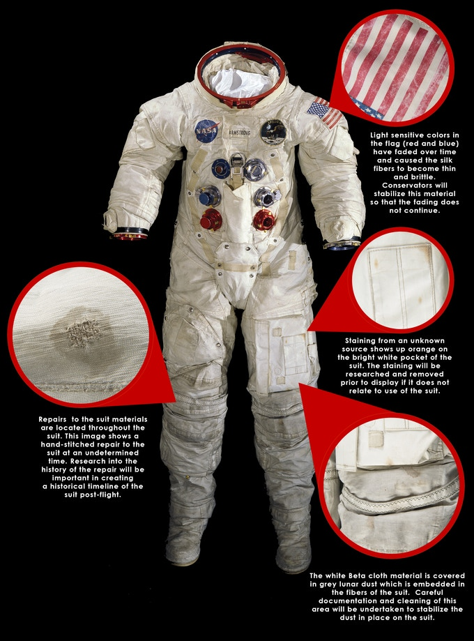 Neil Armstrong Choice uninscribed color 8 x 10 NASA Photo ... |Neil Armstrong Suit Badge