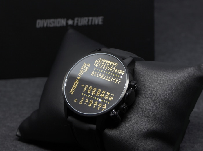 Type 50 -- Division Furtive's new dual linear LED display wrist watch that you can set using light from smartphone or computer screen
