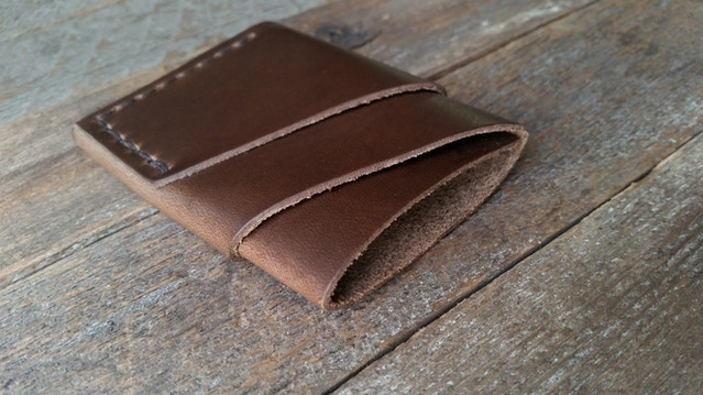 71a7d3c033e Port Wallet  Minimal Handmade Leather Card Wallet by Chad Von Lind ...