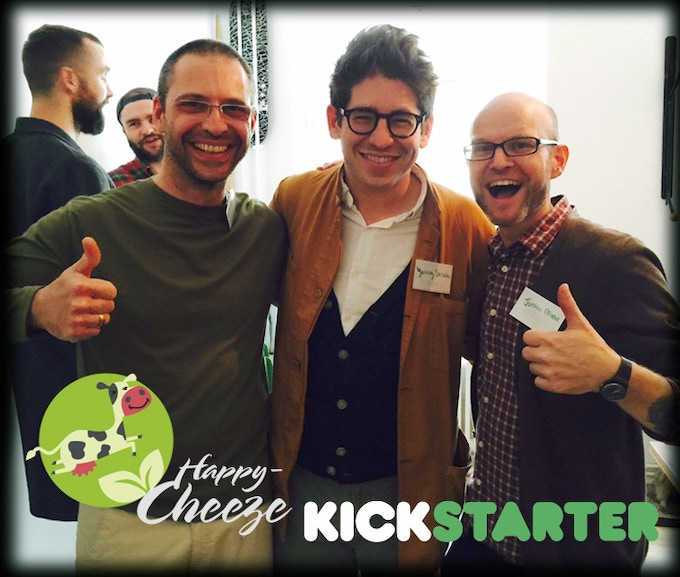 Dr Mudar Mannah (Happy Cheeze), Yancey (CEO Kickstarter) and Me! At the Kickstarter Germany Launch Dinner Event.