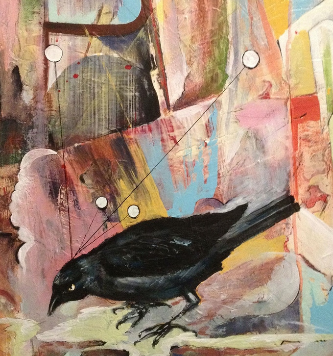 $100 Premium: Crow Print by Ed Trask