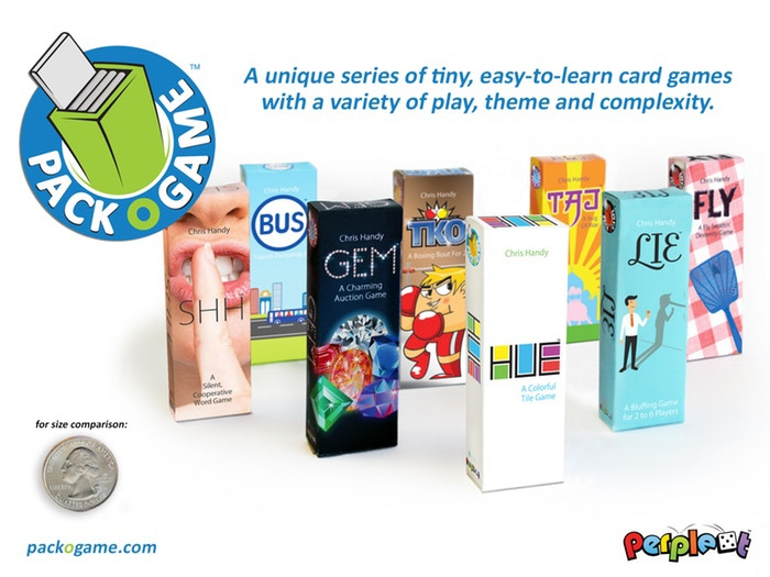 A series O tiny, clever tabletop games, each with unique theme and gameplay, that'll delight and challenge family and friends.