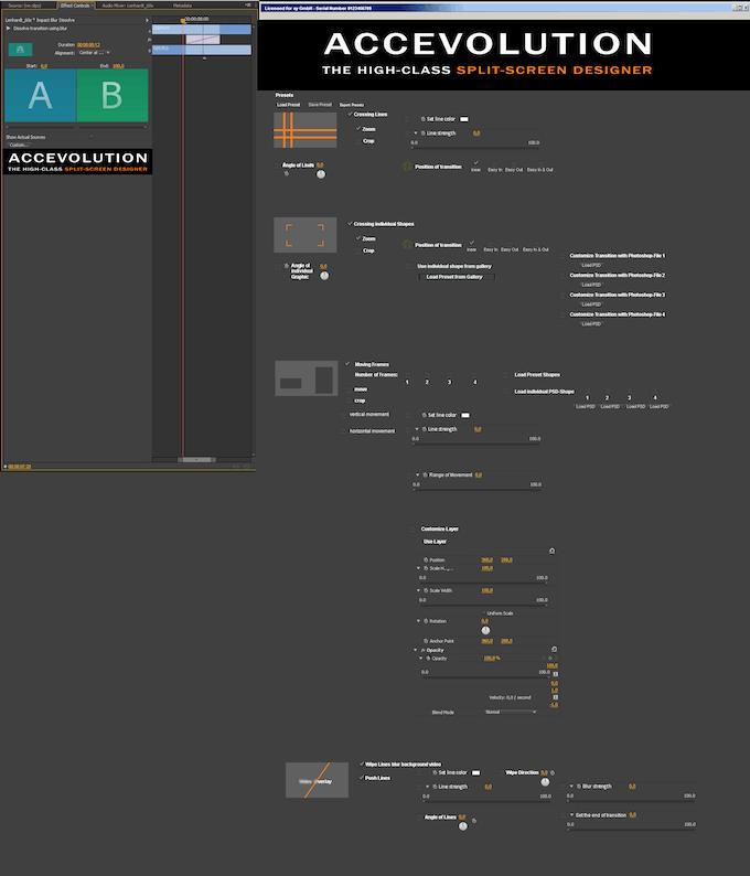 split screen designer plug in for adobe premiere pro cc by accevolution kickstarter. Black Bedroom Furniture Sets. Home Design Ideas