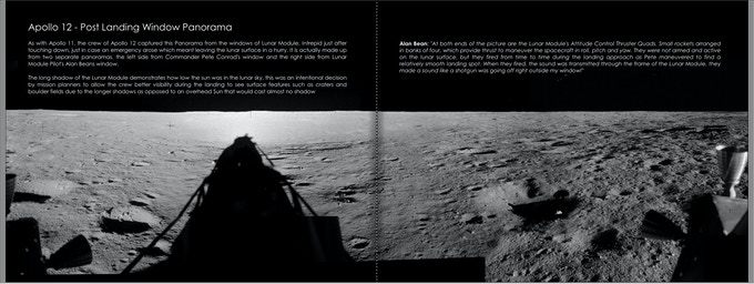 Apollo 12 Post Landing Window Panorama