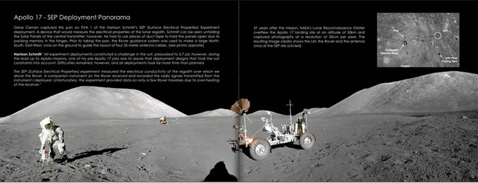 Apollo 17 SEP Deployment Panorama