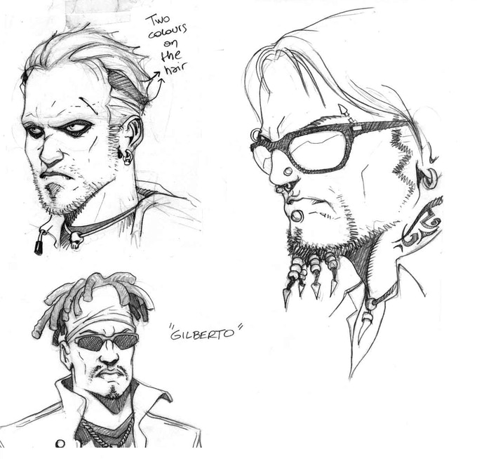 sample character designs by Paronzini - can't use these, they're spoken for ;)