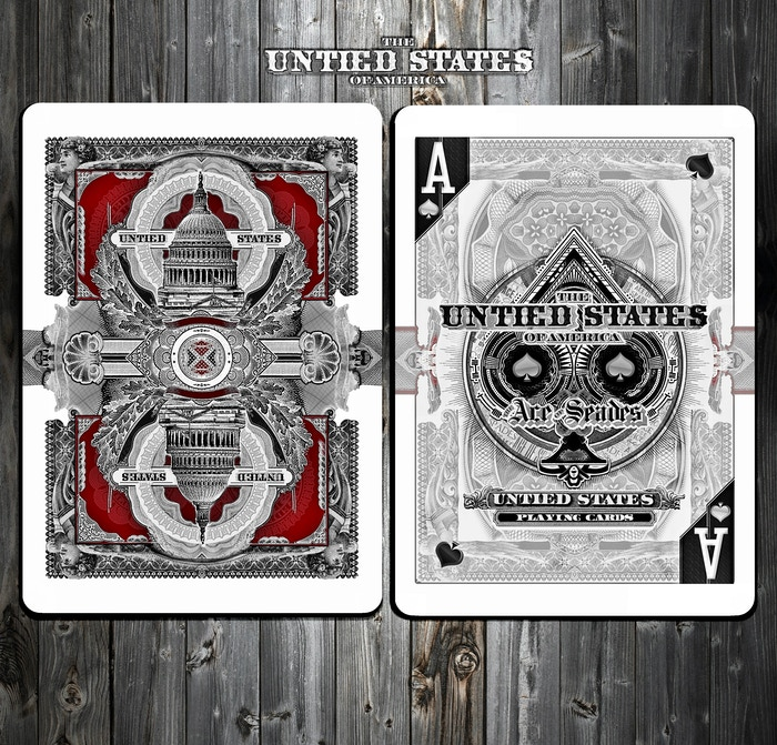 "Ember Waves and The UnTied States Playing Cards bring you the 100% Custom ""Capitalists"" Deck made by USPCC"