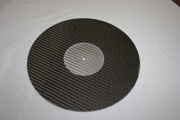 New !! Intro Price: Carbon Fibre LP Turntable Platter Mat NEW EPOXY COATED!