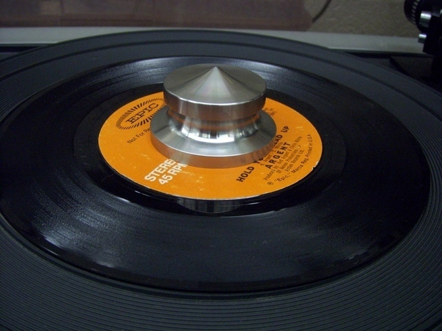 The 45 RPM Universal fit Record Adpaptor and Center Weight !!
