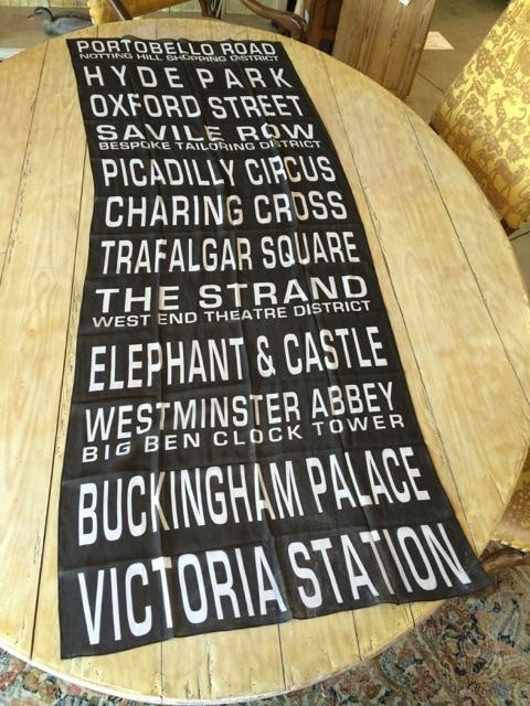 """$98 PLEDGE REWARD - Silk Georgette Scarf - Your choice of ONE of the two scarves shown. See details in the Pledge Reward Section - Shown Here: """"Portobello Road to Victoria Station"""""""