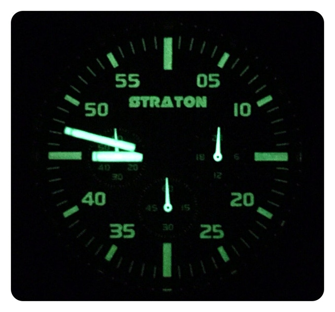 Lume shot of the dial